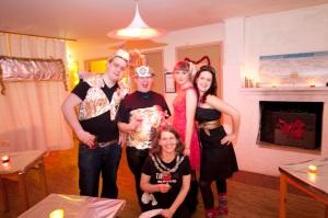 Festkommittén Anders L, Dick, Karin, Matilda och Elin