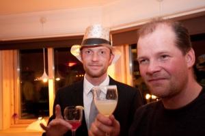 Björn med cosmopolitan och Stefan K med en salt Marguerita
