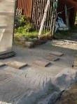 Ok här saknas en bit, men där ska mer sand på när jag gör trappan