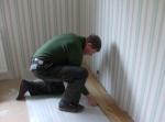 Det nya golvet, det är svårt att mäta rätt i änden